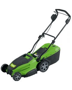 Draper LM42 Electric Lawn Mower with 6 cutting heights, 42cm cutting deck and fold away handles for transit or storage.