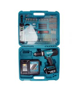 Makita BHP453FTK 18 volt lithium-ion combi drill with 101 piece accessory kit