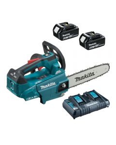 Makita DUC256PG2 Twin 18v Cordless Top Handled Chainsaw