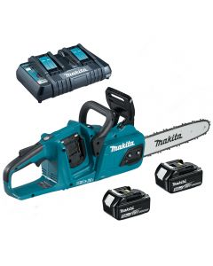 Makita DUC305Z-KIT Cordless Chainsaw with 2 x 5aH Batteries & Twin Charge