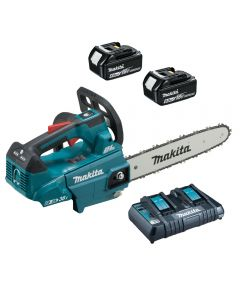 "Makita DUC306Z Cordless Twin 18v Top Handle Chainsaw with 12"" Bar"