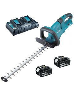 Makita DUH651Z Cordless  Hedge Trimmer Including 2 Batteries and Twin Port Charger