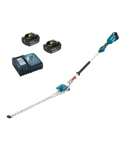 Long reach hedge trimmer from Makita comes with 2 x 5ah batteres and charger