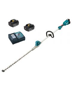 Makita DUN600LRTE Cordless Long Reach Hedge Trimmer with Battery and Charger