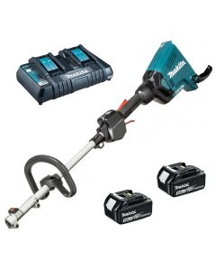 Makita DUX60Z Twin 18v cordless multi tool including 2 x 5amp batteries an charger