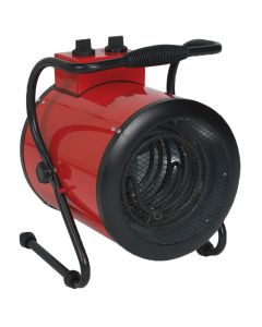 Sealey EH5001 industrial fan heater offers a 5kw output, requires a 415v supply