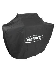 Genuine Outback 2 burner hooded barbecue cover.