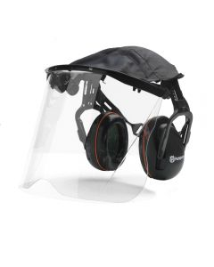 Husqvarna Hearing Protection With Perspex Visor & Cover - Headband