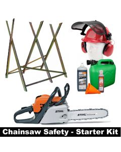 "Stihl MS181 14"" petrol chain saw with safety starter user kit"