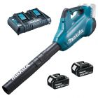 Makita DUB362 Leaf Blower including 2 batteries and charger